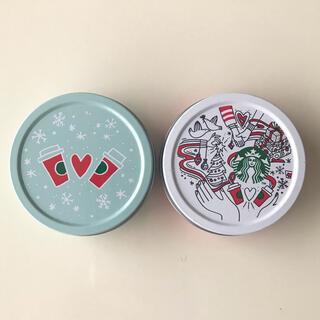 スターバックスコーヒー(Starbucks Coffee)のスターバックス ホリデーシーズンノベルティ マスキングテープ缶 2個(テープ/マスキングテープ)