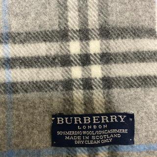 BURBERRY - バーバリー ノバチェック マフラー グレー
