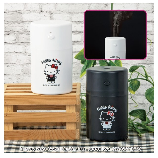 ハローキティ(ハローキティ)のハローキティ   ボーダーシャツつつ型USB加湿器 ブラック スマホ/家電/カメラの生活家電(加湿器/除湿機)の商品写真