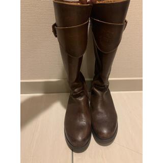 ザラキッズ(ZARA KIDS)のZARA kids ブーツ34サイズ焦茶(ブーツ)
