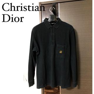 Christian Dior - old Christian Dior/刺繍ロゴ ポロシャツ ラガーシャツ 古着