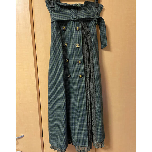 Lily Brown(リリーブラウン)のリリーブラウン 異素材切り替えスカート レディースのスカート(ロングスカート)の商品写真