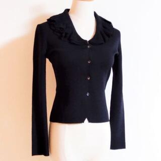 ANTEPRIMA - 美品!上質アンテプリマ フレア編み襟 カーディガン