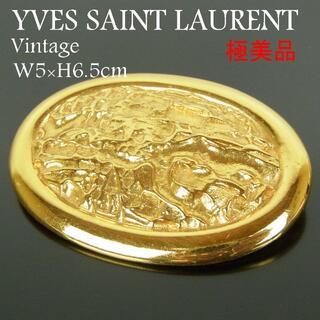 Saint Laurent - イヴサンローラン 極美品 ヴィンテージ W5×H6.5cm ピン ブローチ