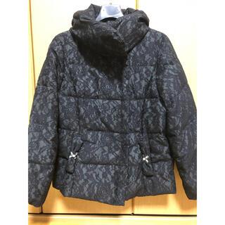 GALLERY VISCONTI - 黒のダウンジャケット ビスコンティ レース模様