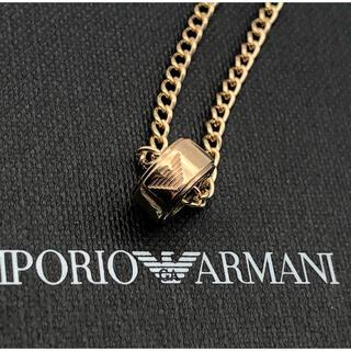 Emporio Armani - エンポリオアルマーニ ネックレス トップ イーグルロゴ ゴールド 喜平