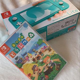 ニンテンドースイッチ(Nintendo Switch)の【美品】任天堂Switch あつまれどうぶつの森セット(家庭用ゲーム機本体)