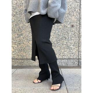 DEUXIEME CLASSE - AP STUDIO ウールリブスカート ブラック