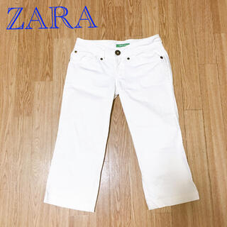 ザラ(ZARA)のZARA ホワイト ハーフパンツ(ハーフパンツ)