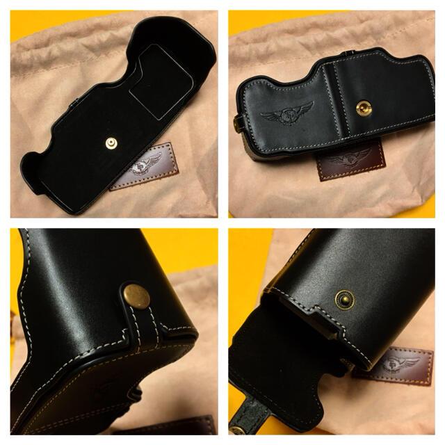 Nikon(ニコン)のNikon Df レザーハーフケース 黒 ブラック 美品 保護ボトムカバー スマホ/家電/カメラのカメラ(デジタル一眼)の商品写真