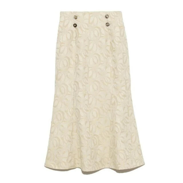 Lily Brown(リリーブラウン)のLilly Brown フラワージャガードスカート レディースのスカート(ロングスカート)の商品写真
