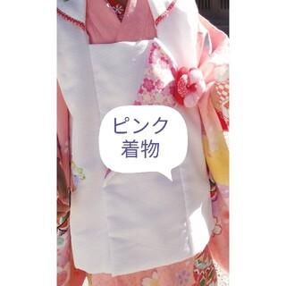 3歳ピンク着物セット七五三(和服/着物)