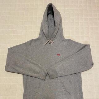 シュプリーム(Supreme)のsupreme small box hooded sweatshirt 灰色 M(パーカー)