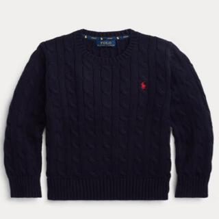 ラルフローレン(Ralph Lauren)の新品 ラルフローレン ケーブルニット 4T 紺色(ニット)