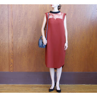 mame - mame kurogouchi Leaver Lace I-Line Dress