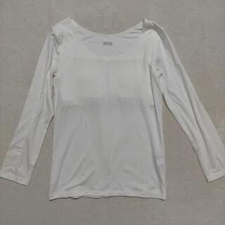 ユニクロ(UNIQLO)のユニクロ ガールズ ヒートテック ブラトップ (9分袖) 150 ホワイト(下着)