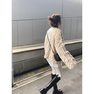 """TODAYFUL - Todayful Pattern Hand Knit""""パターンハンドニット"""