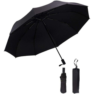 折りたたみ傘 頑丈な10本骨 軽量 耐風撥水 高強度グラスファイバー 晴雨兼用(傘)