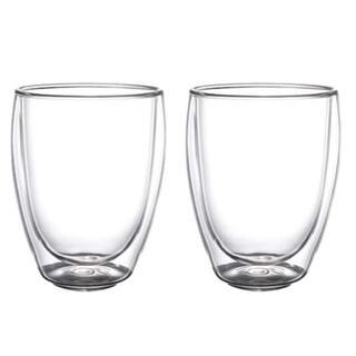 イケア(IKEA)のIKEA PASSERAD パッセラド 耐熱二重グラス 1セット=2個(グラス/カップ)