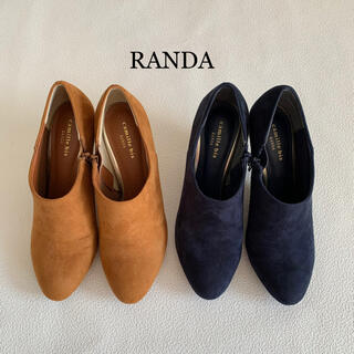 RANDA - camille bis RANDA  ブーティ 色違い2足セット