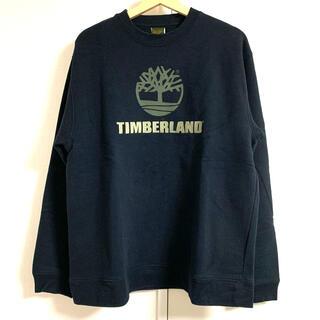 ティンバーランド(Timberland)の【美品】ティンバーランド  トルコ製 ロゴ刺繍スウェット 90's ブラック(スウェット)