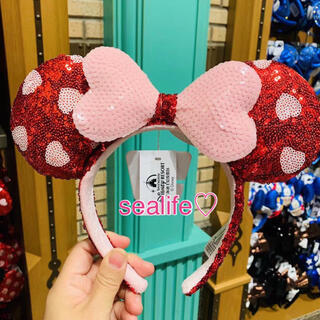 Disney - 香港ディズニー❣️新作✨ミニーバレンタインカチューシャ