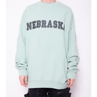 RAF SIMONS - ラフシモンズ SWEATERWITH NEBRASKA PRINT GREEN