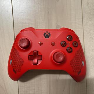 エックスボックス(Xbox)のXbox ワイヤレス コントローラー (スポーツレッド) ほぼ未使用(家庭用ゲーム機本体)