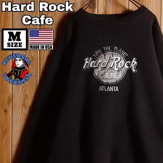 USA製 ハードロックカフェ 刺繍 スウェット トレーナー ブラック M