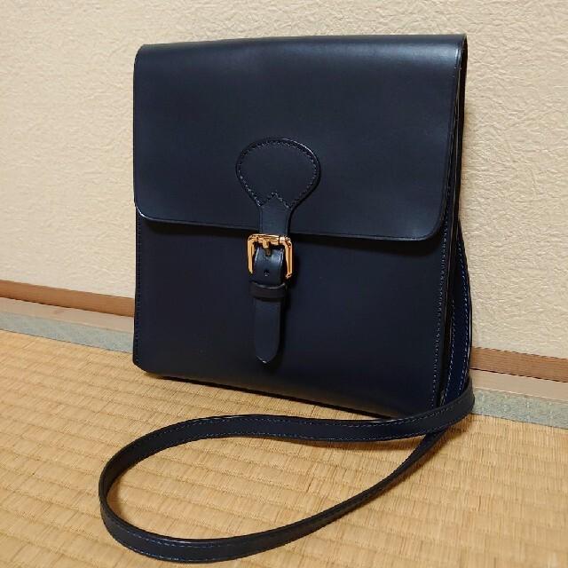 美品 ボルドリーニ セレリア ショルダーバッグ ネイビー ブルー 紺 ポシェット メンズのバッグ(ショルダーバッグ)の商品写真