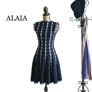 ★高級★ ALAIA アライア ワンピース 刺繍 ドレス