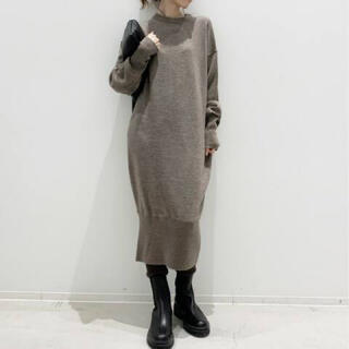 L'Appartement DEUXIEME CLASSE - L'Appartement Mimore Knit ワンピ―ス ベージュA