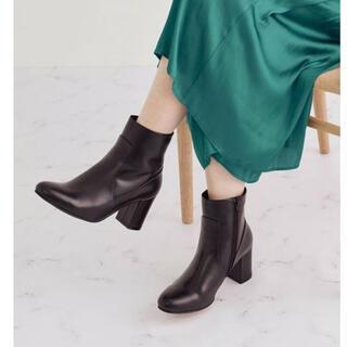 ロペ(ROPE)のアーチフィットブーツ ロペ ショートブーツ/ブーティー ブラウン ブラック(ブーツ)
