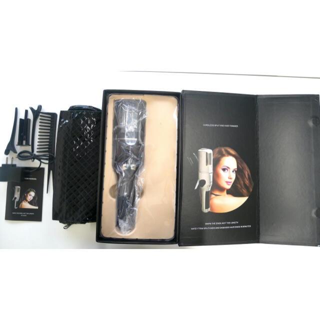 外箱付き 送料無料 枝毛カッター ブラック 黒 新品未使用 スマホ/家電/カメラの美容/健康(ヘアアイロン)の商品写真