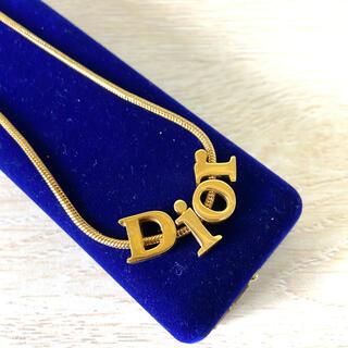 Christian Dior - Dior クリスチャンディオール ロゴネックレス ゴールド ロゴ メンズ