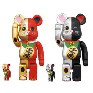 MEDICOM TOY - BE@RBRICK 招き猫 金×赤・銀×黒 100% & 400% 2個セット