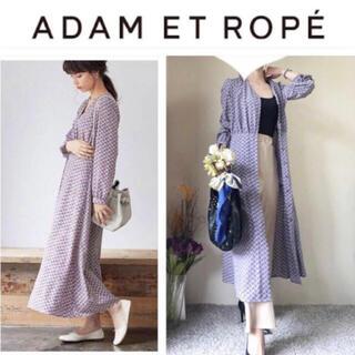 Adam et Rope' - アダムエロペ  ヴィンテージ風 ジョーゼット ロングワンピース 羽織り F