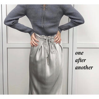 one after another NICE CLAUP - 新品 one after another 後ろレースアップスカート