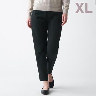 ムジルシリョウヒン(MUJI (無印良品))の無印良品    縦横ストレッチチノボーイフィットパンツ  婦人XL・黒(チノパン)