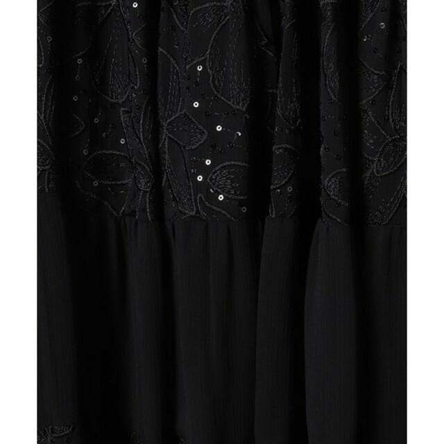 eimy istoire(エイミーイストワール)のeimy istoire エンブロイダリースパンコールティアードスカート レディースのスカート(ロングスカート)の商品写真