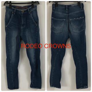 ロデオクラウンズ(RODEO CROWNS)のロデオクラウンズ スウェットデニムパンツXS ジーンズ(デニム/ジーンズ)