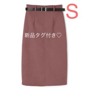 GRL - 【新品タグ付き】GRL♡ ベルト付きバックスリットスカート S ダークピンク
