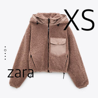 ZARA - ZARA コントラストポケット付きボア生地ジャケット XS