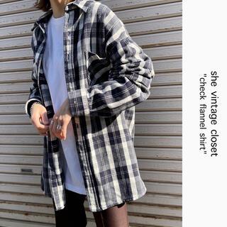 Santa Monica - 90s 古着 ネルシャツ チェックシャツ オーバーサイズ XL