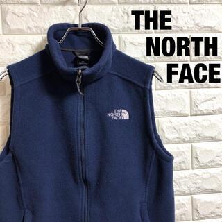THE NORTH FACE - ノースフェイス フリースベスト 刺繍ロゴ YKK  メンズSサイズ