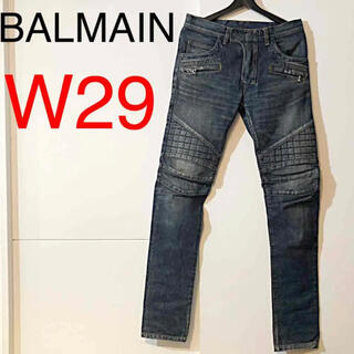 BALMAIN - バルマン BALMAIN バイカーデニム スキニー W29