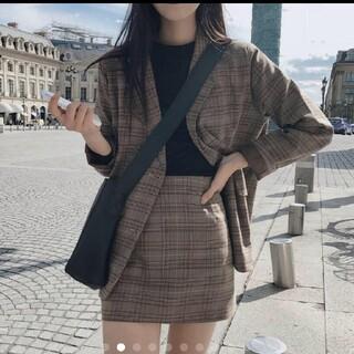 ZARA - 韓国ファッション 人気のジャケット ミニスカート 二点セット セットアップ
