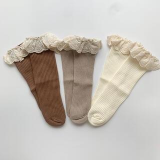 韓国こども服 ソックス 靴下 3足セット