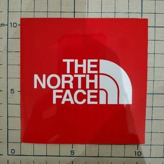 ザノースフェイス(THE NORTH FACE)のThe north face ステッカー レッド(その他)