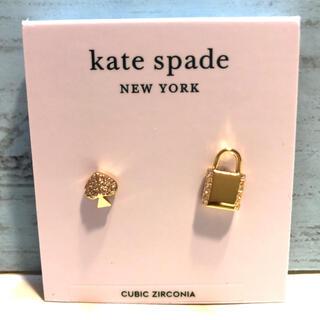 kate spade new york - 最新 ケイトスペード ★ロック ハート ピアス スワロフスキー ブランド 新品